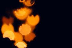 Pomarańczowego świątecznego abstrakta zamazany tło dla Halloween Zdjęcia Royalty Free