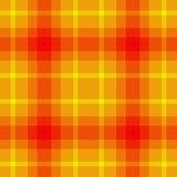 Pomarańczowego kolor żółty szkocka krata obrazy royalty free