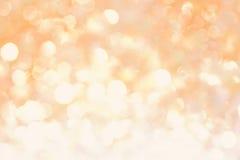 Pomarańczowego koloru żółtego bokeh abstrakta światła miękki tło Obrazy Royalty Free