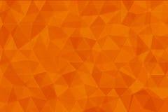 Pomarańczowego koloru niski poli- tło Zdjęcia Royalty Free