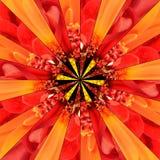 Pomarańczowego kwiatu centrum kolażu Geometryczny wzór Obraz Royalty Free