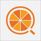 Pomarańczowego logo koloru nowożytnego projekta prosty mieszkanie ilustracji