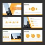 Pomarańczowego Wielocelowego Infographic elementów ikony prezentaci szablonu płaskiego projekta broszurki ustalona reklamowa mark Zdjęcie Stock