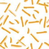 Pomarańczowego zapału Bezszwowy wzór Zdjęcia Royalty Free