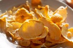 Pomarańczowej łupy mandarynka obrazy royalty free