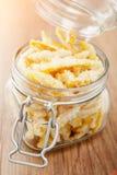 Pomarańczowej łupy osłodzony cukierek Zdjęcia Stock