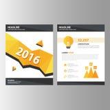 Pomarańczowej czarnej sprawozdanie roczne prezentaci szablonu broszurki ulotki elementów ikony płaski projekt ustawia dla reklamo Zdjęcia Royalty Free