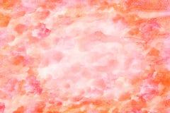 Pomarańczowej czerwieni akwareli tło Obrazy Royalty Free