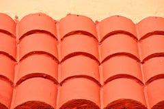 pomarańczowej czerwieni dachu stiuku płytka Obraz Royalty Free