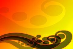 pomarańczowej czerwoną falą abstrakcyjnych Ilustracja Wektor