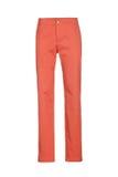 Pomarańczowi kobiety ` s klasyka spodnia odizolowywający na białym tle obrazy stock