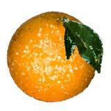 Pomarańczowi koraliki z prześcieradłem ilustracji