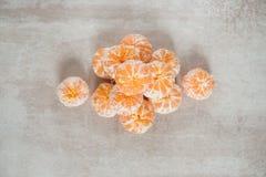 Pomarańczowi Mandarines, Clementines, Tangerines lub małe pomarańcze, Obraz Stock