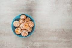 Pomarańczowi Mandarines, Clementines, Tangerines lub małe pomarańcze, Fotografia Royalty Free