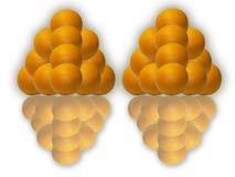 pomarańczowi ostrosłupy Fotografia Royalty Free