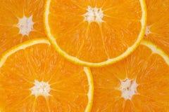 Pomarańczowi owocowi plasterki, tekstura obraz royalty free
