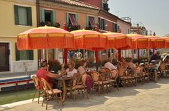 pomarańczowi parasole Zdjęcie Royalty Free