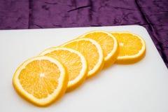 pomarańczowi plasterki Fotografia Royalty Free