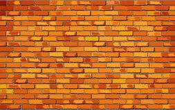 Pomarańczowy Ściana Z Cegieł Obraz Royalty Free