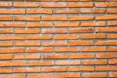 Pomarańczowy Ściana Z Cegieł Obrazy Royalty Free