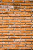 Pomarańczowy Ściana Z Cegieł Zdjęcie Stock