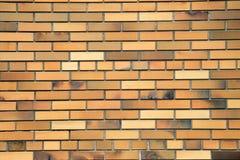 Pomarańczowy ściana z cegieł, tło Zdjęcia Stock