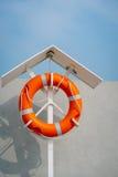 Pomarańczowy życia boja na molu Zdjęcie Stock