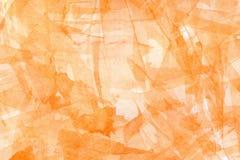 Pomarańczowy abstrakcjonistyczny akwareli tło Zdjęcia Stock