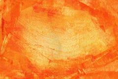 Pomarańczowy abstrakcjonistyczny akwareli tło Zdjęcia Royalty Free