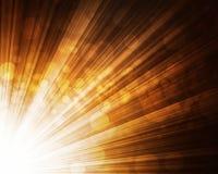 Pomarańczowy abstrakcjonistyczny bokeh światła tło Obrazy Royalty Free