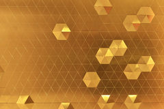 Pomarańczowy Abstrakcjonistyczny Heksagonalny kształta tło, tapeta Obraz Stock