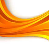 Pomarańczowy abstrakcjonistyczny jaskrawy falowy tło ilustracja wektor