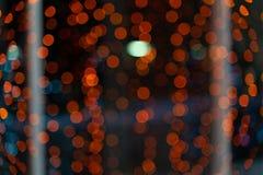 Pomarańczowy abstrakcjonistyczny piękny bokeh tło zdjęcia stock