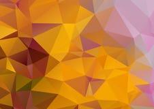 Pomarańczowy abstrakcjonistyczny poligonalny tło Obraz Stock