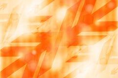 Pomarańczowy abstrakcjonistyczny technologii tło Obrazy Royalty Free