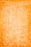 Pomarańczowy abstrakt marszczący akwarela papier Fotografia Stock