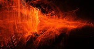 Pomarańczowy abstrakt Wykłada krzyw cząsteczek tło royalty ilustracja