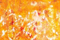 Pomarańczowy akwareli grunge tła wzór Zdjęcie Royalty Free