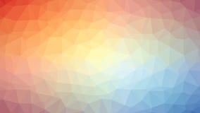 Pomarańczowy Błękitny Triangulated tło Ilustracja Wektor