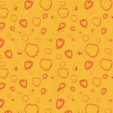 Pomarańczowy bezszwowy tło Zdjęcia Royalty Free