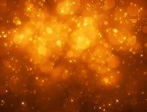 Pomarańczowy bokeh tło Fotografia Royalty Free