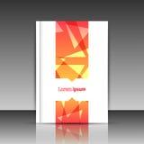 Pomarańczowy broszurka tytułu prześcieradło Royalty Ilustracja
