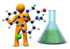 Chemik molekuła ilustracji