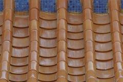 Pomarańczowy chiński dach obrazy royalty free