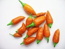 Pomarańczowy chili pieprzu wciąż życie Fotografia Royalty Free