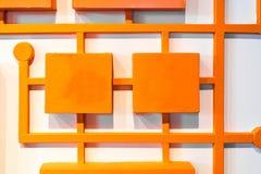 Pomarańczowy cyfrowy wzór na białym tle Fotografia Royalty Free
