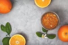 Pomarańczowy dżem obraz royalty free