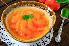 Pomarańczowy deseru zakończenie up Zdjęcia Stock