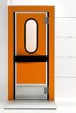 Pomarańczowy drzwi Fotografia Royalty Free