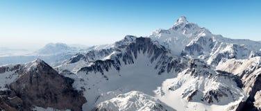 pomarańczowy górski filtra panorama niebios royalty ilustracja